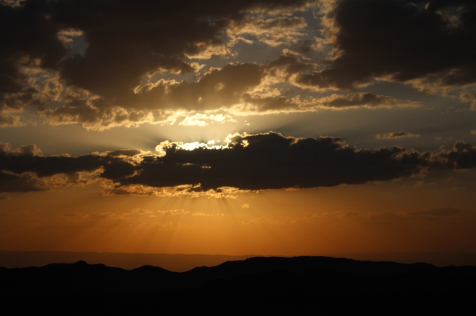 Sunset Over the Jordan Desert
